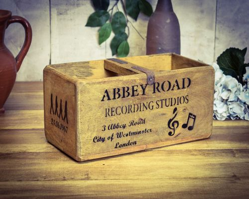 Medium Vintage Box Abbey Road Music Studio Box